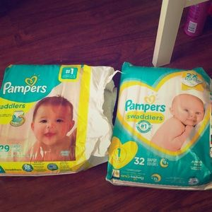 Brand New Pampers Diapers 1 & 2